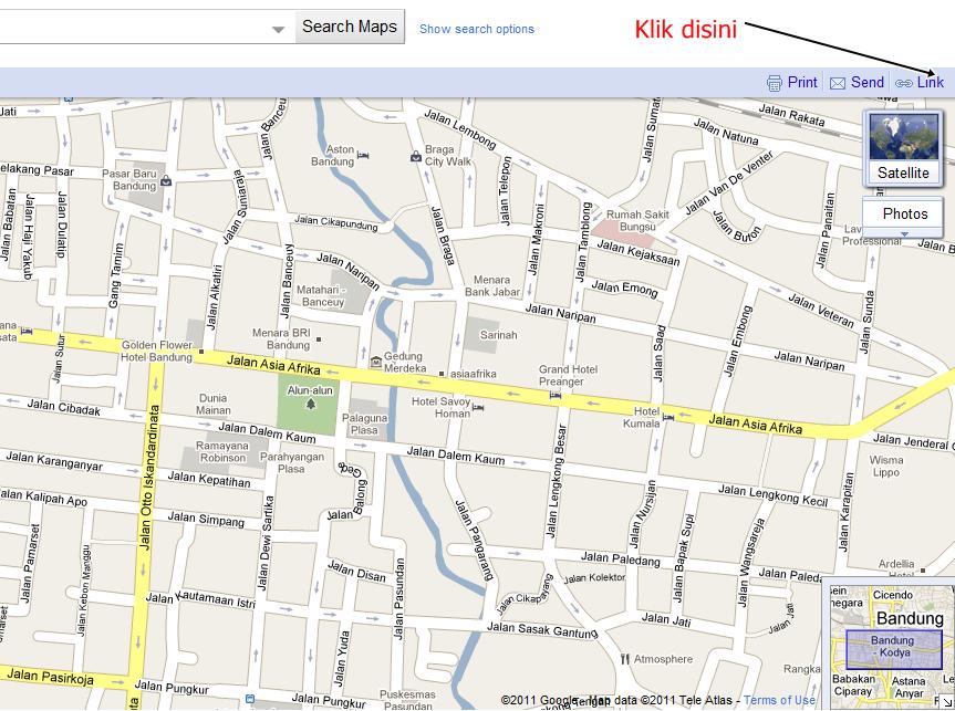Cara Mendapat Peta Jalan Kota Bandung Full Dengan Google